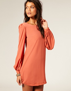 Long Sleeve Shift Dress on Asos Long Sleeve Shift Dress   Sprinkles On Everything